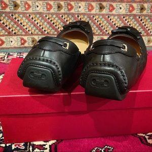 Salvatore Ferragamo Shoes - Vintage Black Leather Ferragamo Flats NWT